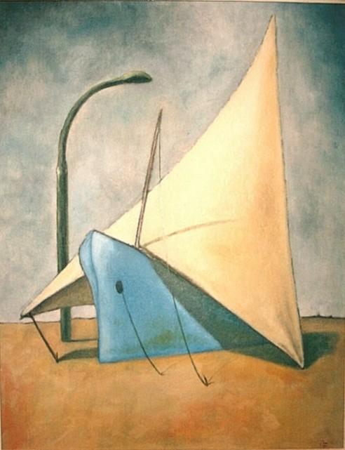 """""""Carattere"""", olio su cartone, di cm. 35X45, opera di Alessandro Bargellini"""