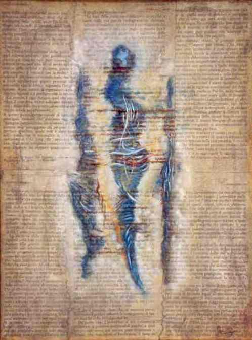"""""""Immagine dell'inconscio"""", opera a tecnica mista, di cm. 30X40, realizzata da Alessandro Bargellini"""