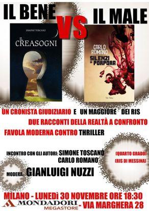 Locandina incontro organizzato da Simone Toscano