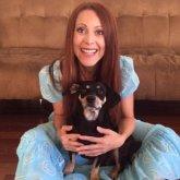 Ritratto di Elisa Manzini con cucciolotto