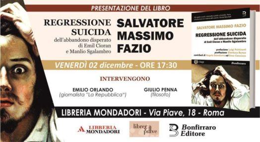 Presentazione del libro Regressione suicida di Salvatore Massimo Fazio
