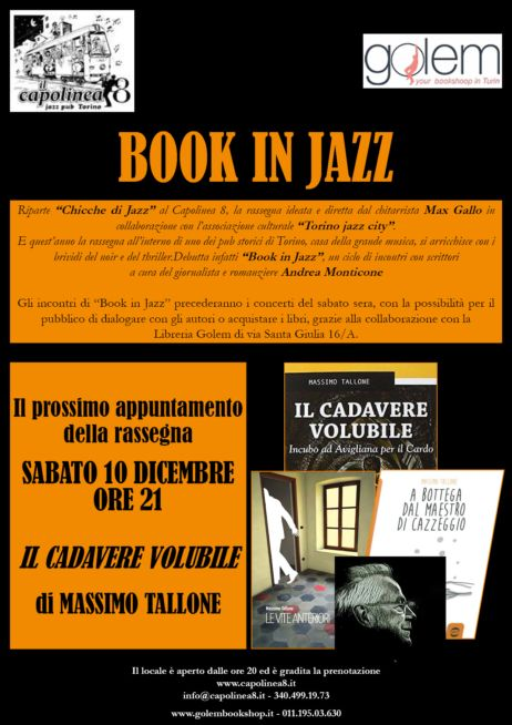 Locandina manifestazione Book in Jazz al Capolinea 8