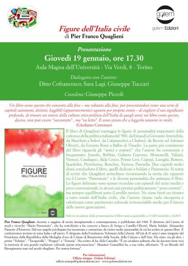 Immagine locandina presentazione saggio Pier Franco Quaglieni