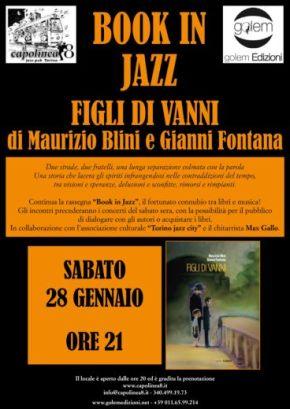 """Locandina """"Figli di Vanni"""" a Book in Jazz per articolo"""