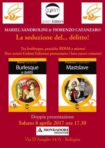 Locandina doppia presentazione Sandrolini Catanzaro