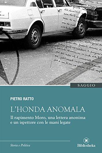 """Copertina saggio """"L'Honda anomala"""" di Pietro Ratto"""