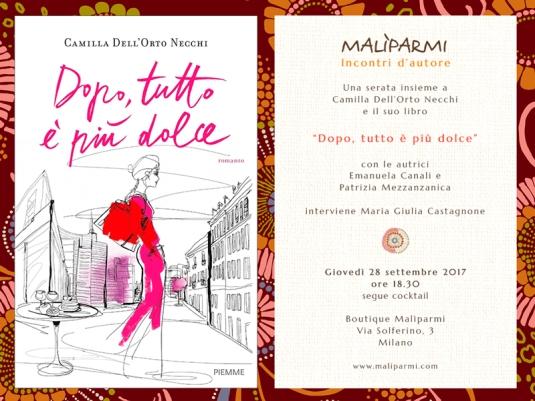 Locandina incontro boutique Maliparmi