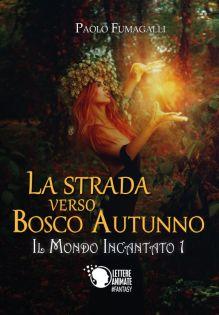 """Copertina romanzo """"La strada verso bosco autunno"""" di Paolo Fumagalli"""