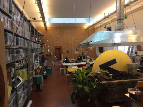 Interno di Opendot Fab Lab Milano