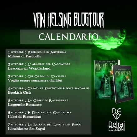 Calendario Blogtour di Van Helsing