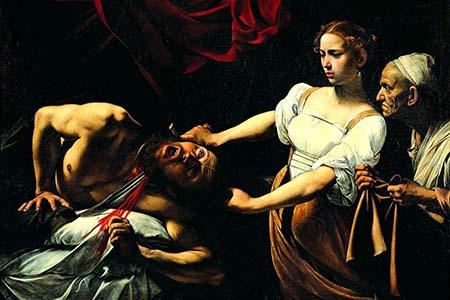 Dipinto di GIuditta che taglia la testa a Oloferne - Caravaggio