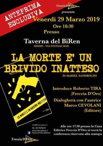 Locandina presentazione romanzo Mariel Sandrolini